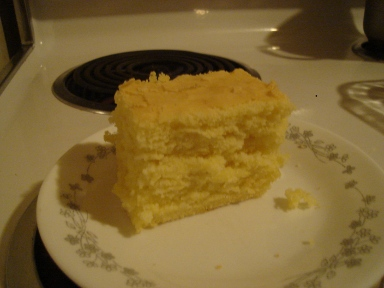 Slice of  gluten free Corn bread