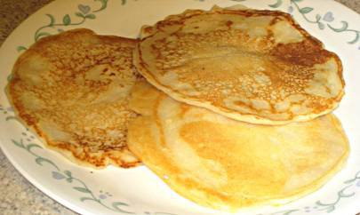gluten free pancakes on a plate
